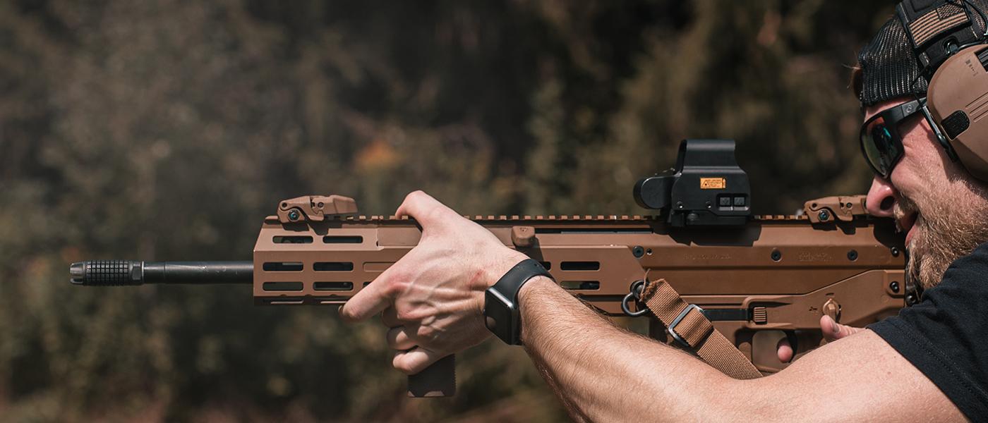 AFAB flash hider muzzle brake on AR-15