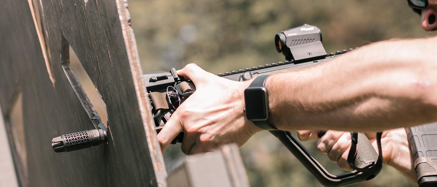 EFAB flash hider muzzle brake on AR-15